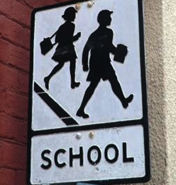 school old sign