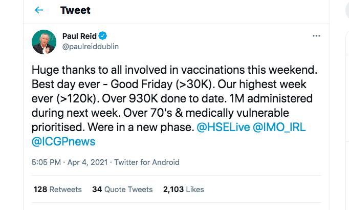 Paul Reid Twitter